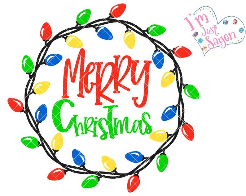 Christmas Wreath Lights Door Hanger Merry Christmas Digital Etsy Christmas Doodles Holiday Embroidery Christmas Writing