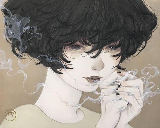厭世感極重的少女呢喃 令人不寒而慄的病氣系插畫 | 微文青 | 妞新聞 niusnews