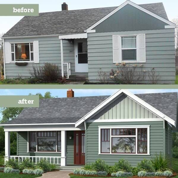 Home Renovations Which Hurt Or Help Market Value Of Property Home Exterior Makeover Porch Remodel House Exterior