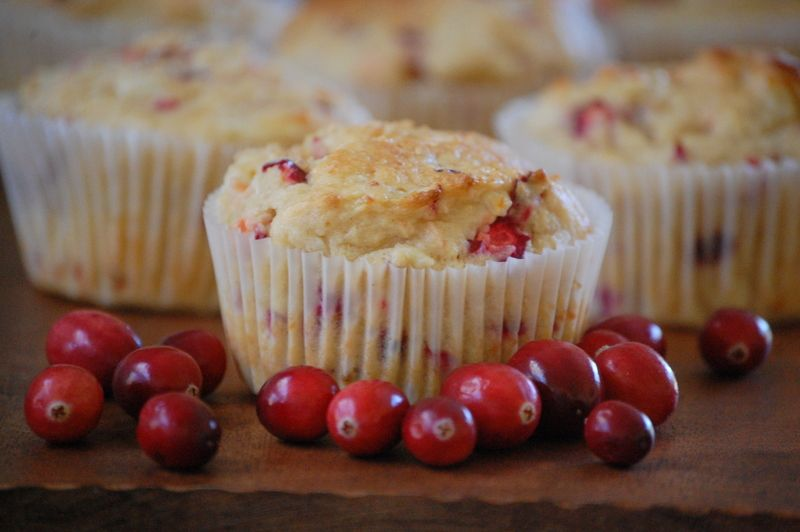 {Cranberry Orange Cottage Cheese Muffins} Moist, zesty and delicious (and GF!)
