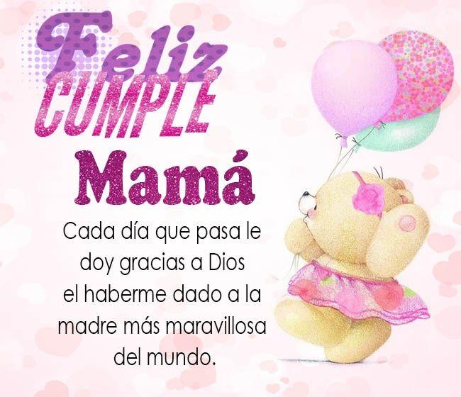 Tarjetas con mensajes de cumpleaños para dedicar a mama | Cumpleaños ...