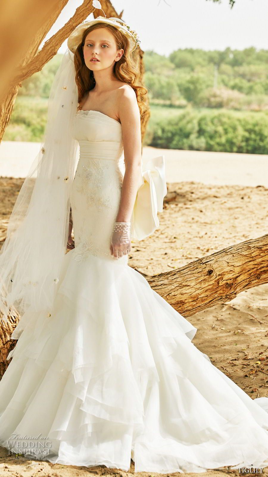 Tiglily wedding dresses mermaid wedding dresses chapel train