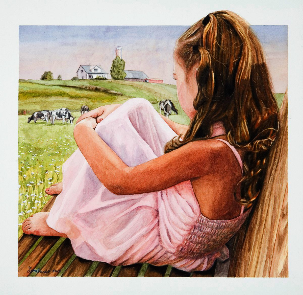 Watercolor Art Realism Painting Larry Lombardo Realistic Figure Paintings And Portraits How To Paint Watercolors A Face Country Scene