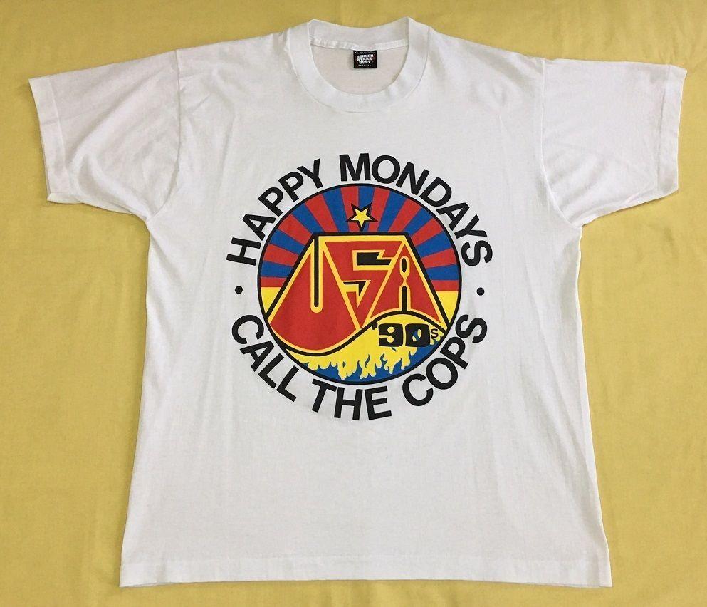 69271fc9 vintage 1990 HAPPY MONDAYS Call The Cops INDIE POST PUNK US TOUR CONCERT t- shirt #ScreenStars #HAPPYMONDAYS #callthecops #vintagetshirt #90s #ustour #  ...
