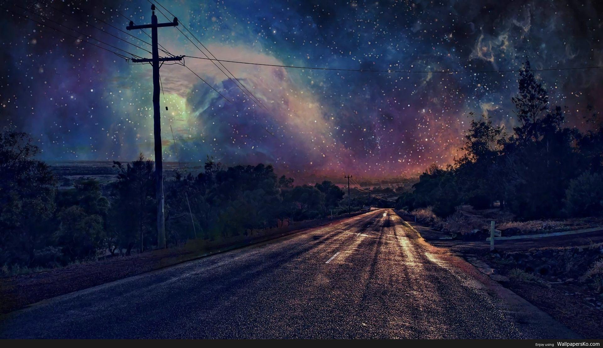 4k Night Sky Wallpaper Http Wallpapersko Com 4k Night Sky Wallpaper Html Hd Wallpap Night Sky Wallpaper Starry Night Wallpaper Desktop Wallpaper 1920x1080