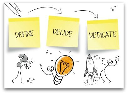 Define >> Decide >> Dedicate