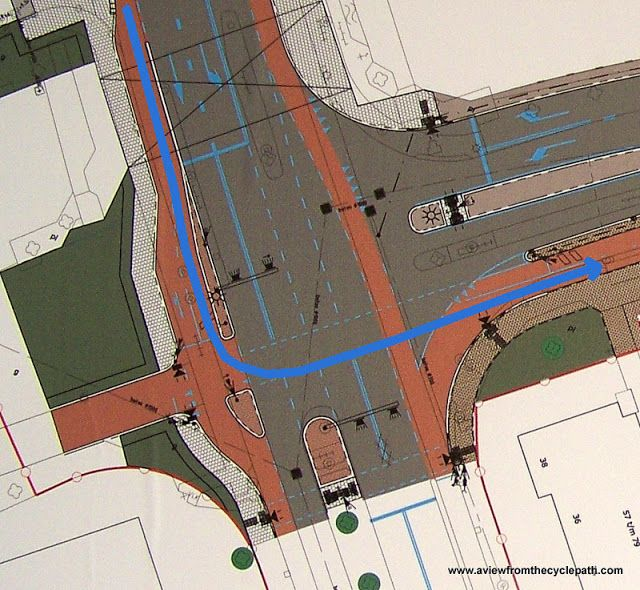 A traffic light design which enables safe turns across traffic for everyone -- check out the video | via A View From the Cycle Path, David Hembrow