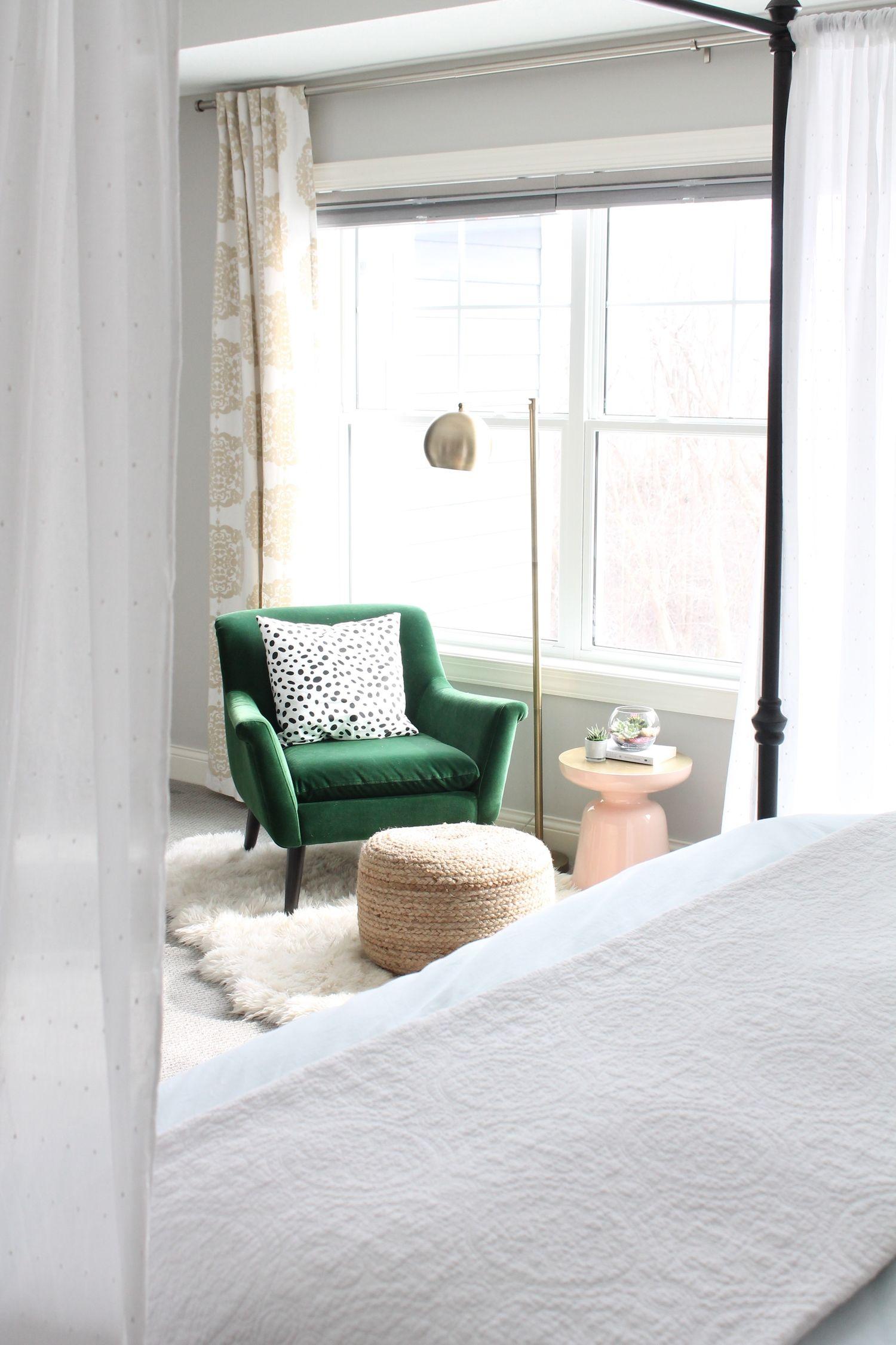 Master bedroom green  Feb  Master Bedroom Reveal  Bedroom green Green velvet and