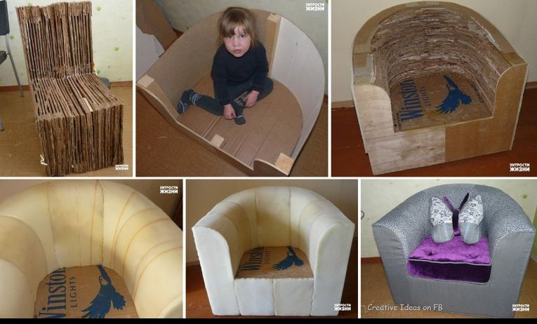 How To Make A Chair Out Of Cardboard Box