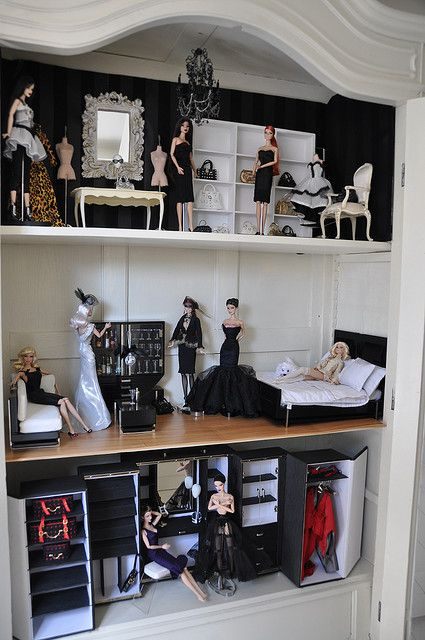 Dollhouse redecorated... by toomuchdolls, via Flickr