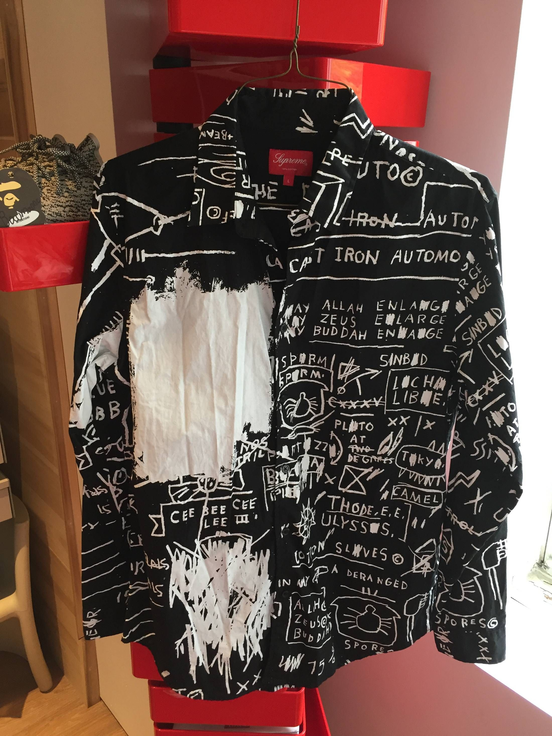 Supreme Supreme Basquiat Shirt Button Up Black Cool Outfits Aesthetic Clothes Diy Clothes
