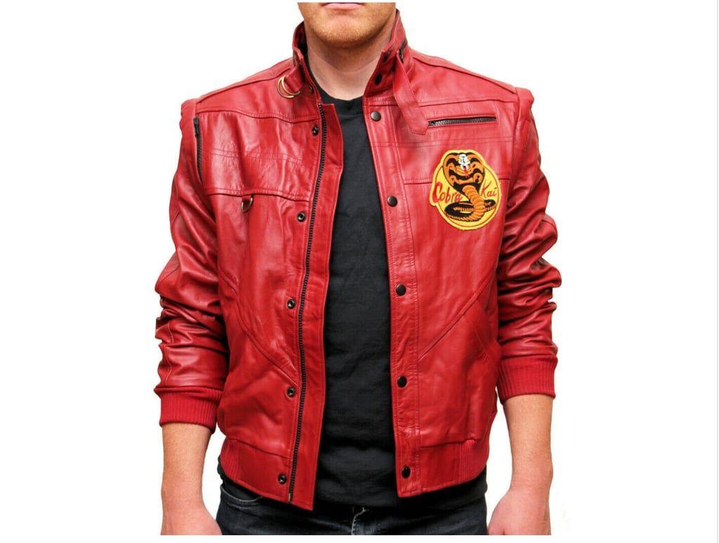 Halloween Cosplay Karate Kid Johnny Lawrence Cobra Kai Red Leather Jacket Karate Kid Karate Kid Cobra Kai Kid Cobra [ 774 x 1024 Pixel ]
