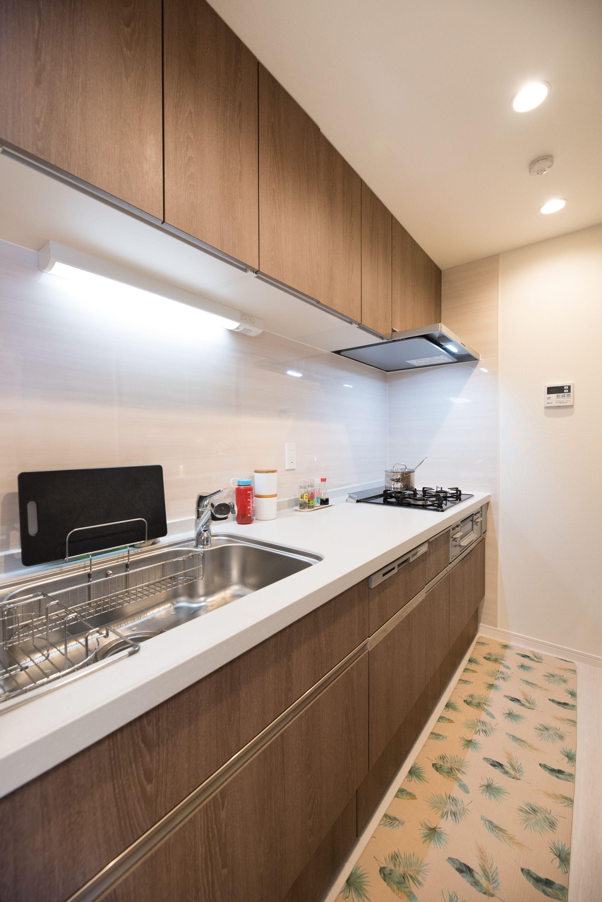 094 4人の育ち盛り 日本のキッチン キッチン シンプル