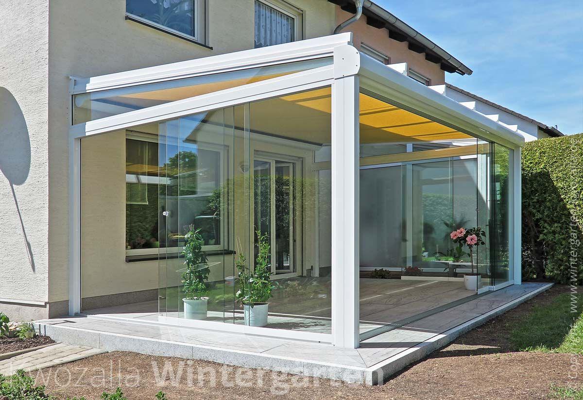 Terrassenuberdachung Aus Glas Und Aluminium Mit