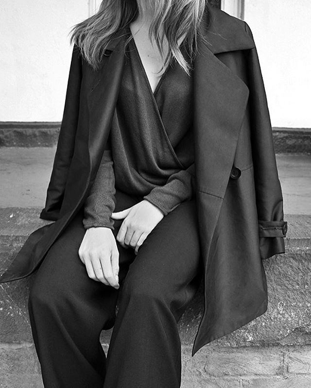 Our favorite time of year for dressing | Shop AW16 coats & Jackets. Pictured the Market Trench, Banks Wrap Top & Mega Wide Leg Pant #viktoriaandwoods