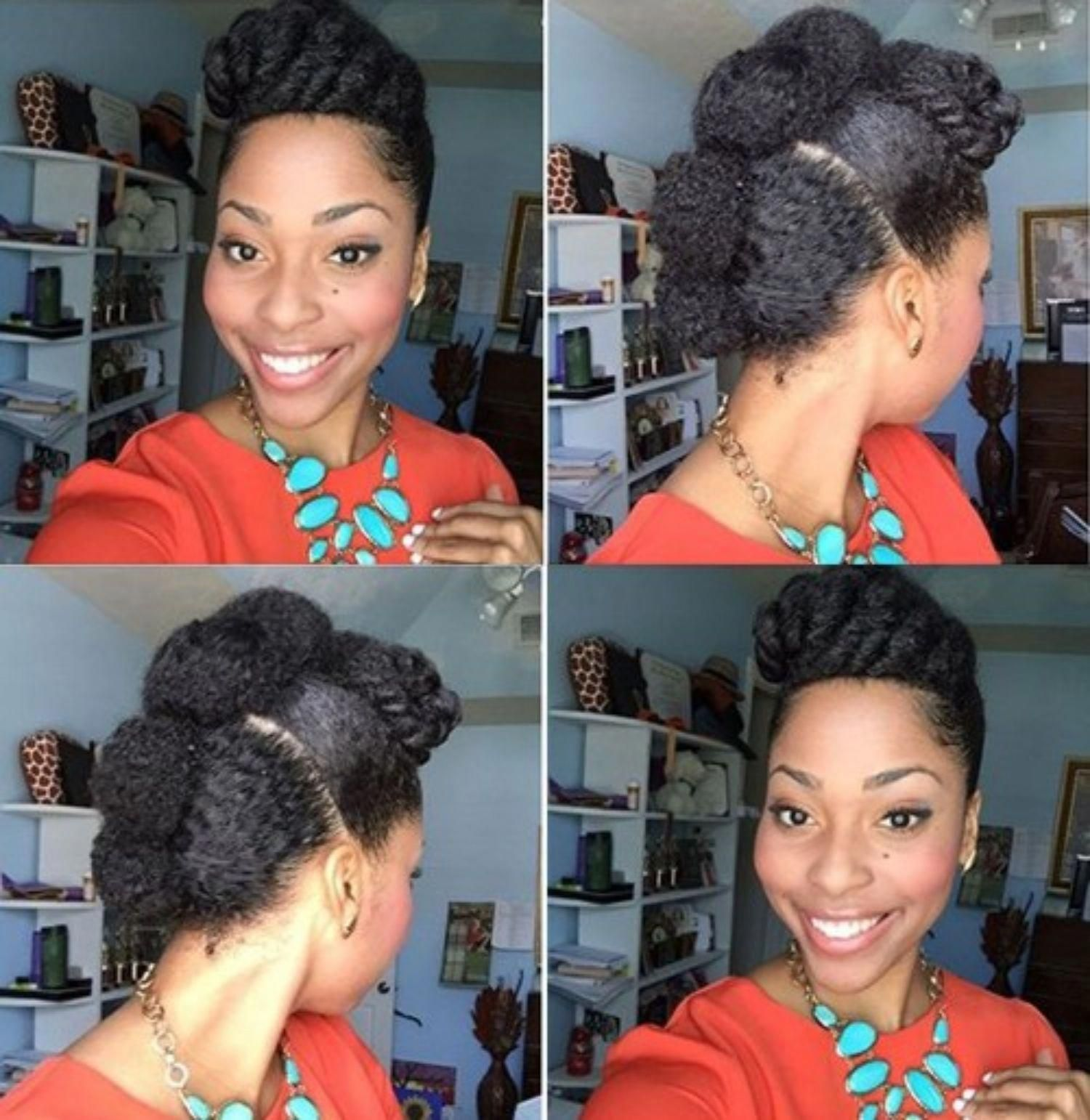 Cute protective mohawk updo for natural hair naturalhairstyles