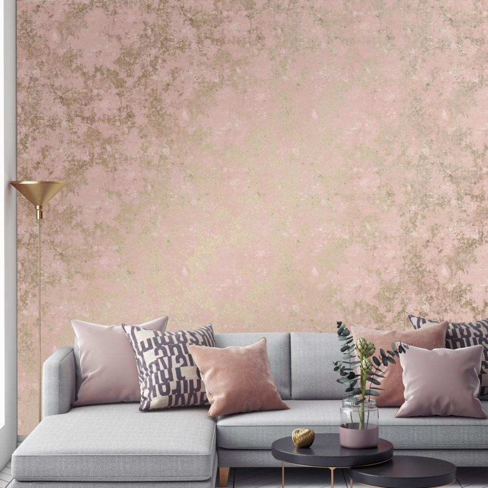 Geneva Metallic Wallpaper Pink