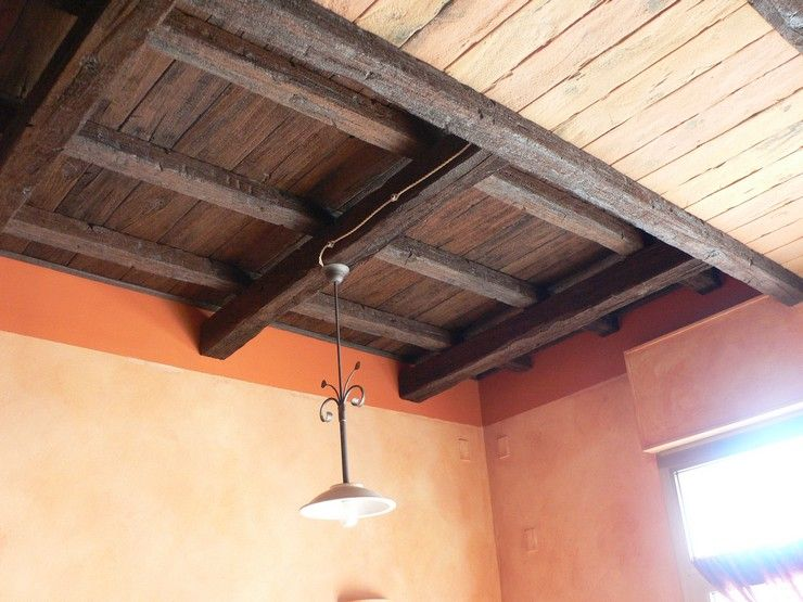 Soffitto In Legno Finto : Linea legno è tavolato finto legno cagliari soffitto in tavolato