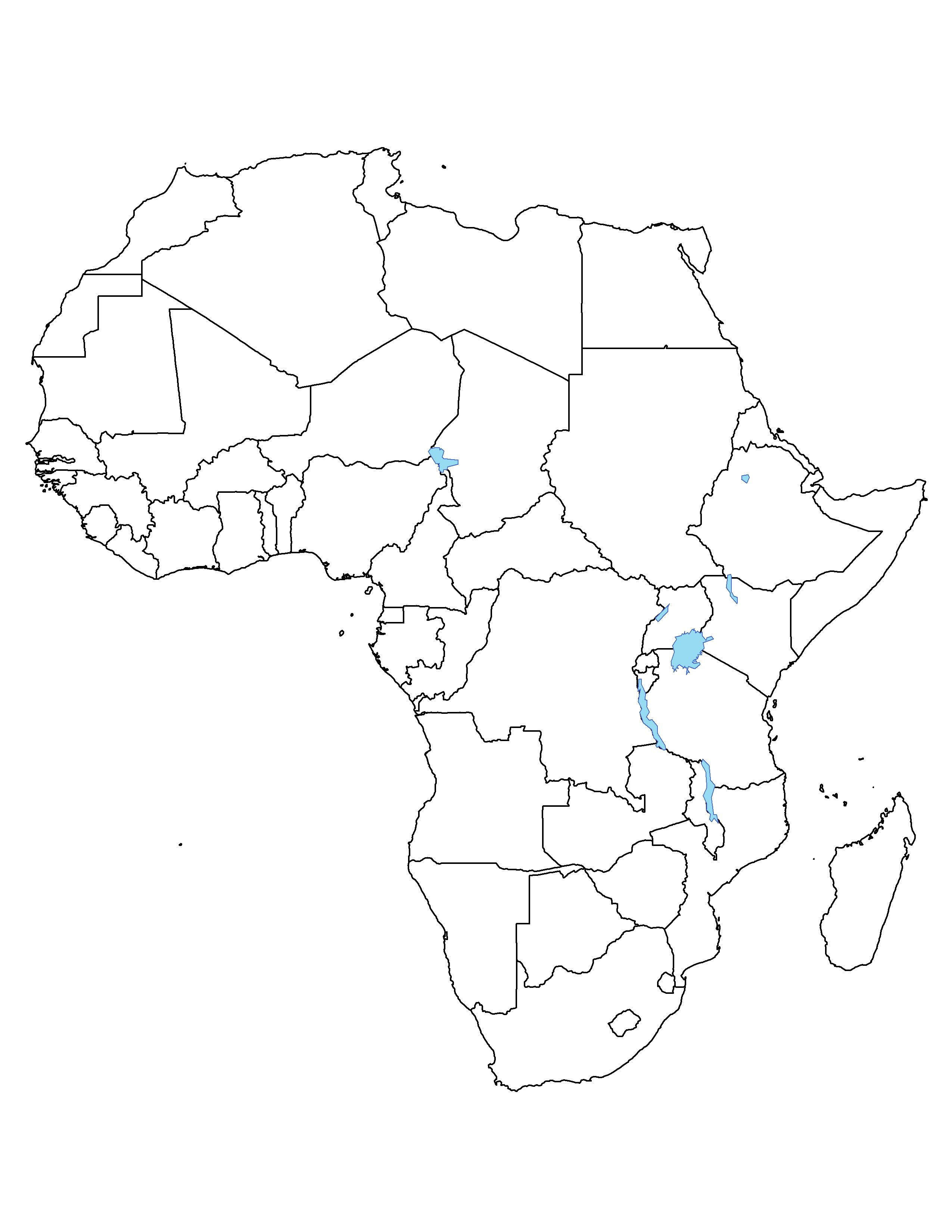 Blank map of africa clipart best clipart best giraffes african outline map in world map coloring page african outline map in world map coloring page color kiddo gumiabroncs Image collections