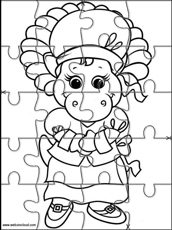Printable jigsaw puzzles to cut out for kids Barney and friends 14 ...