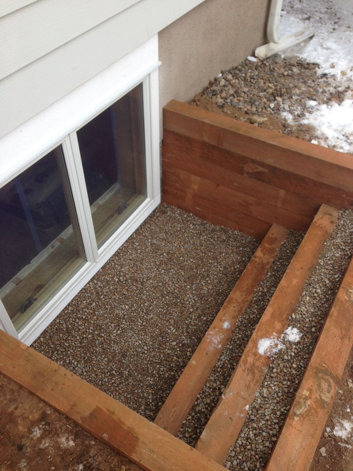 Egress Window Timber Well Egress Window Egress Window Well Window Well