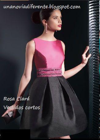 Vestidos cortos rosa y negro