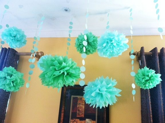 Party Decorating Ideas With Streamers baby shower ideas: the little green bean! | streamer ideas and