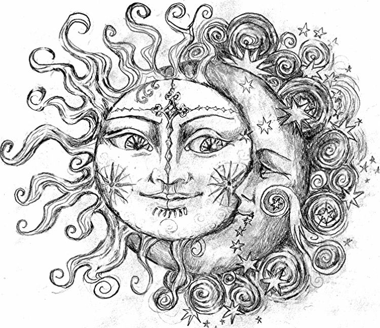 Lynda 087 S Image Moon Coloring Pages Moon Tattoo Moon Sun Tattoo