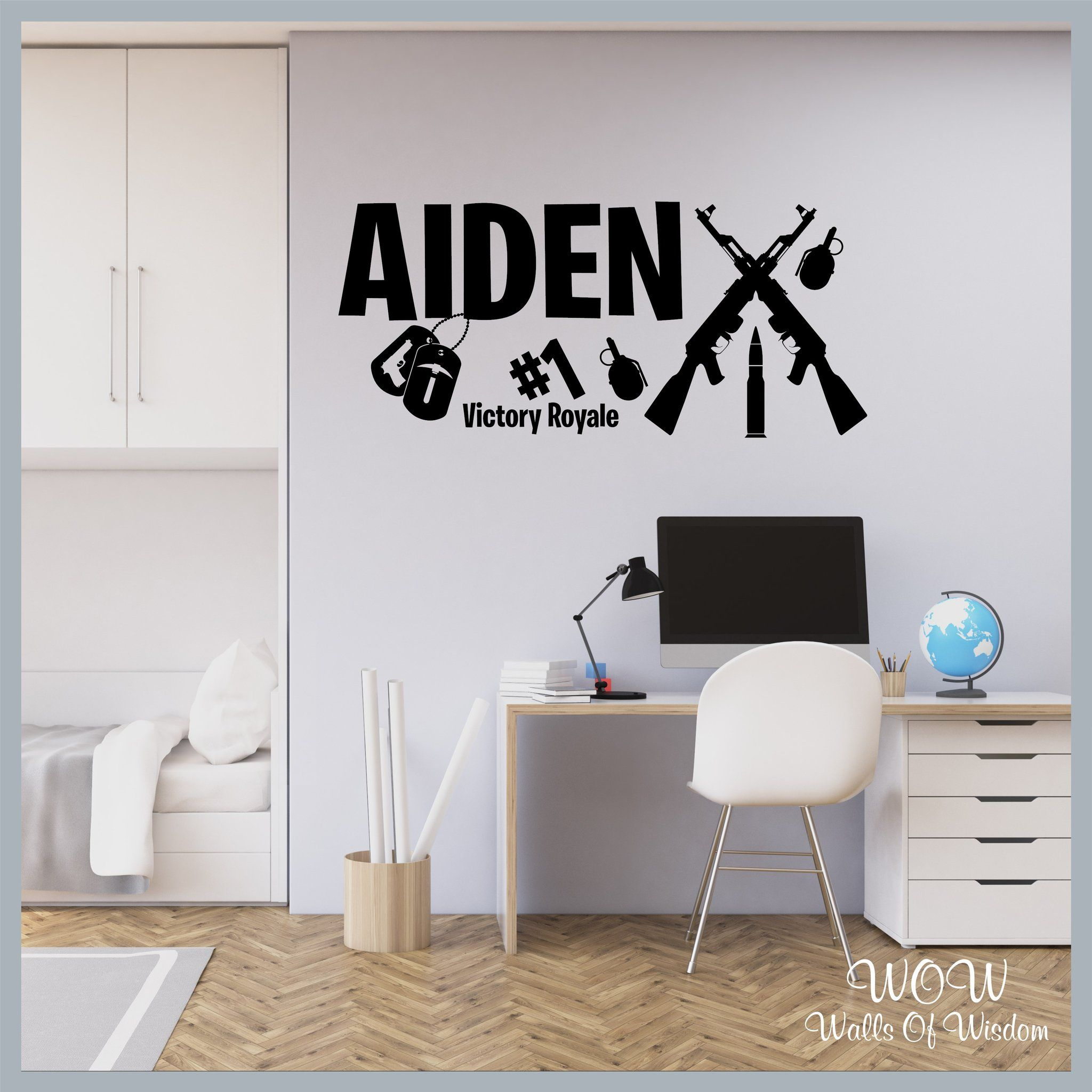 Free uk delivery wall stickers decals fortnite gamer inspired pers walls of wisdom