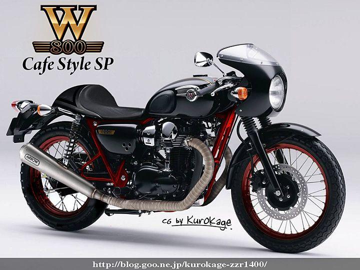 Kawasaki W800 Cafe Racer Motorrad Bild Idee
