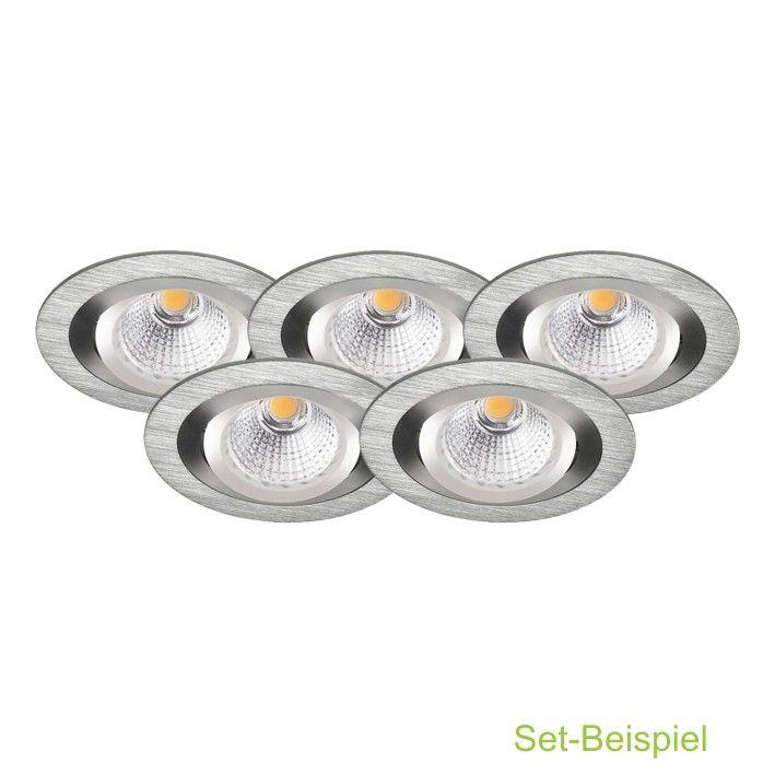 LED Komplett Set Einbaustrahler GU10 230V 7W COB LED LED - led einbauleuchten für badezimmer