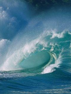 Moving Ocean Pictures : moving, ocean, pictures, Moving, Water, Mobile, Wallpaper, Ocean, Waves,