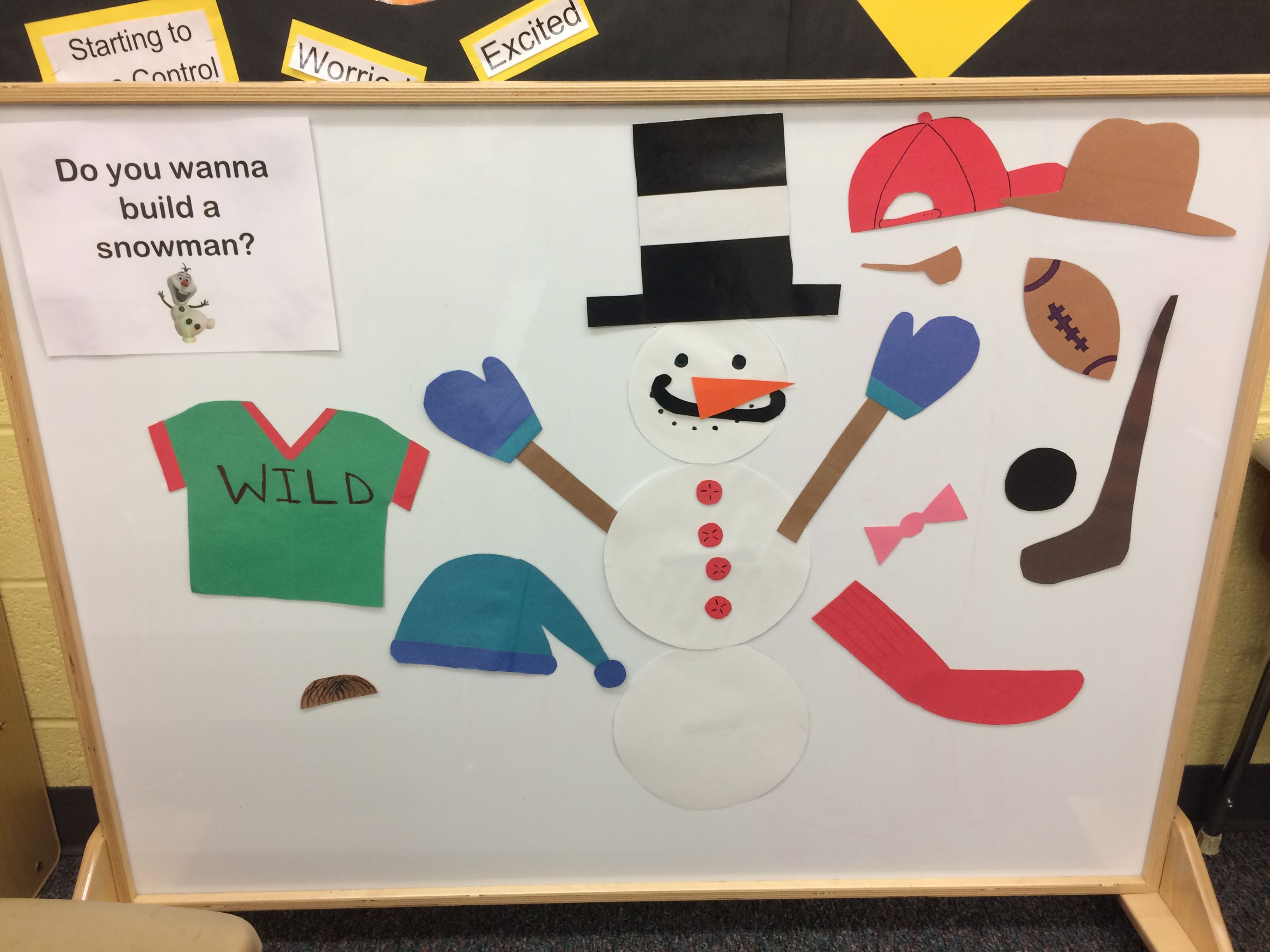 Build A Snowman By Putting Magnetic Parts Onto Snowman