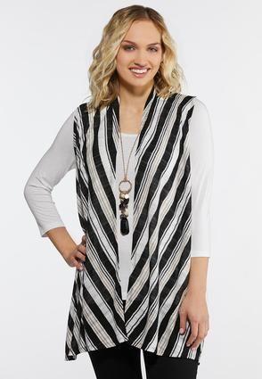 8c04cd0b25 Neutral Stripe Vest Vests Cato Fashions | Baptism outfit ideas ...
