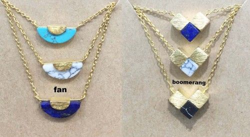 Various Figure geometry Gemstone Pendant Necklace