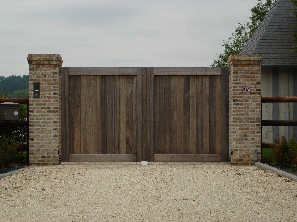 installation de portail bois de qualit porte pinterest portail bois portail et qualit. Black Bedroom Furniture Sets. Home Design Ideas