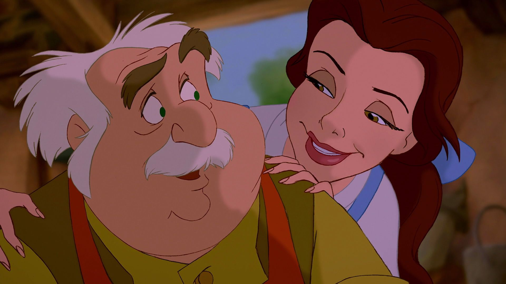 Belle And Her Father Maurice Disney Beauty And The Beast Belle