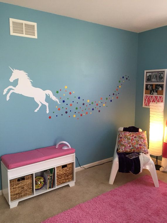 unicorn decal magical wall decal unicorn by on wall decals id=65534