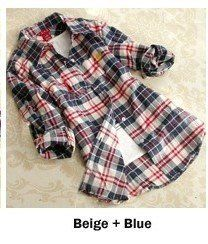 Womens Plaid Long Sleeve Shirt – MsBlueSleeve