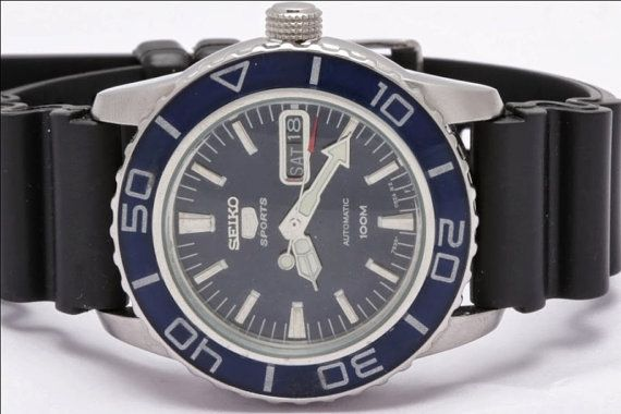 Huge Seiko 5 SPORTS Automatic Mens Gents by vintagewatches4you, $99.99