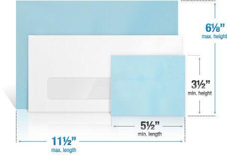Postal Letter Sizes | Mailing Insight | Pinterest | Letter Size