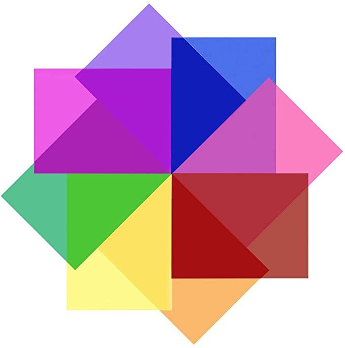 colored gel light filter plastic