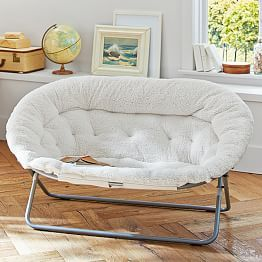 Ivory Furlicious Faux Fur Hang A Round Chair Dorm Room Chairs
