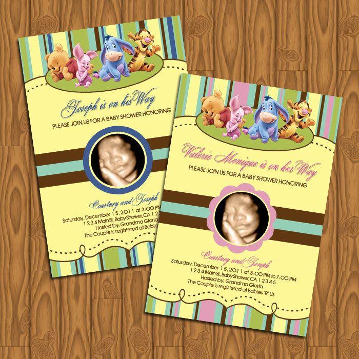 Baby Winnie the Pooh Baby Shower Invitations DIY Printable. $13.99 ...