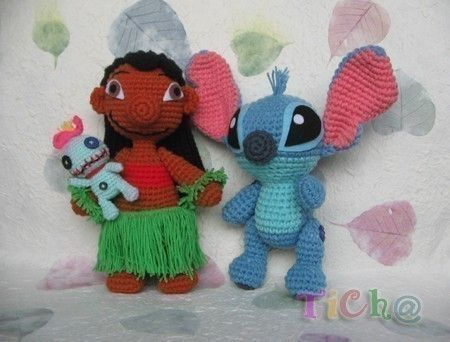 Lilo and Stitch set PDF crochet pattern van Chonticha op Etsy ...