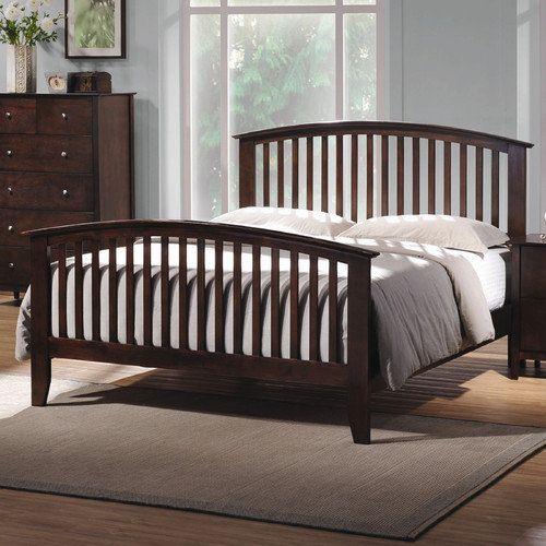 Wildon Home Double Oak Queen Slat Bedroom Collection Furniture