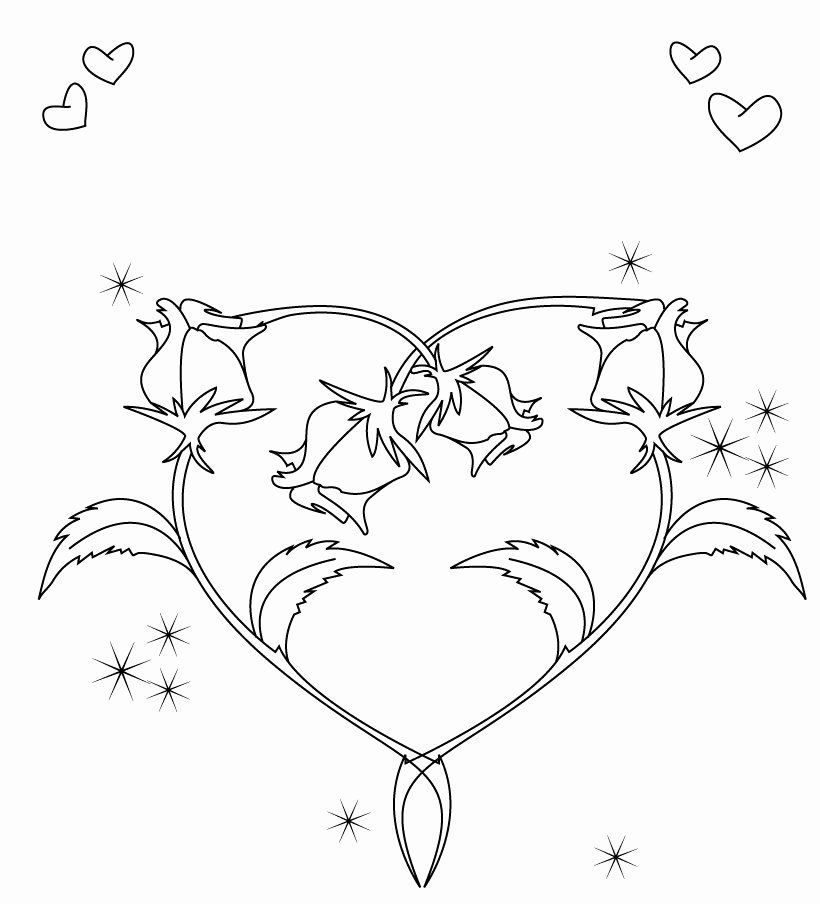 24 Heart Shape Coloring Page 2020 Heart Coloring Pages