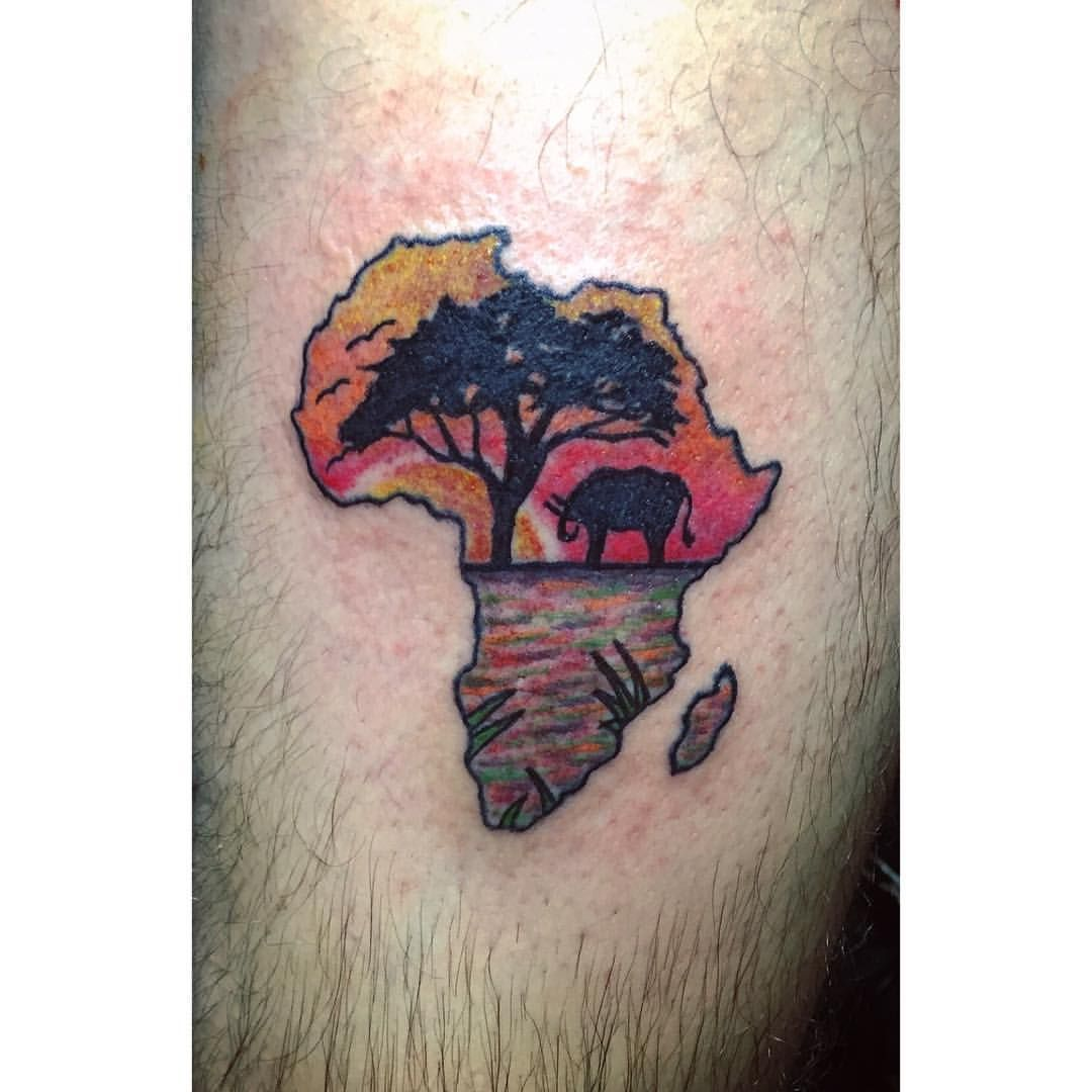 Songbird tattoo created at www mrsite com - Mama Africa Artwork Africa Tattoo Tattoos Sunset Elephant Savannah