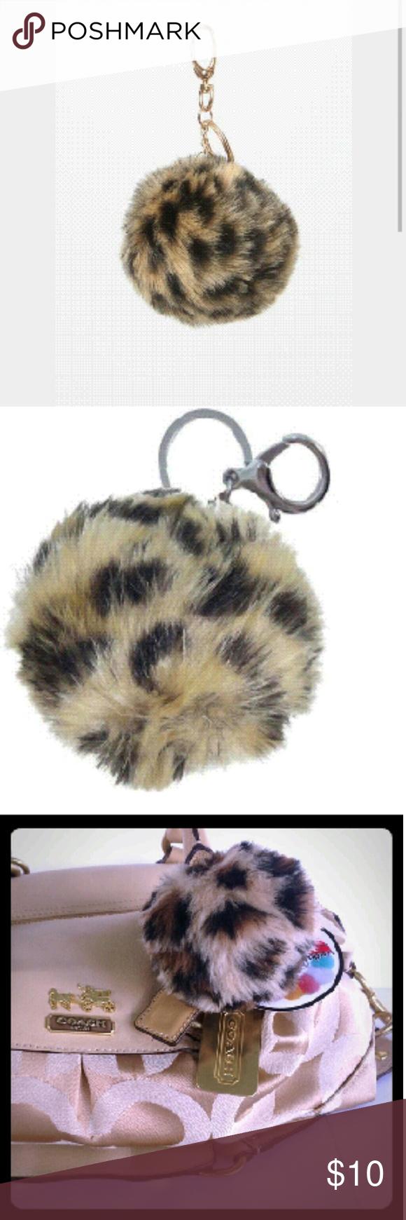 NWT cheetah pom pom keychain Adorable nwt cheetah print pom pom keychain, so cute on any size purse!! :-)   Accessories