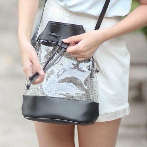 clear bucket bag| $29.99  health goth nu goth street style minimal fachin bag purse accessories clear under30 etsy